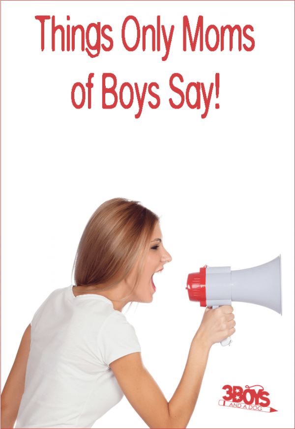 Things Moms of Teenage Boys Say... – 3 Boys and a Dog: http://3boysandadog.com/things-moms-of-teenage-boys-say/