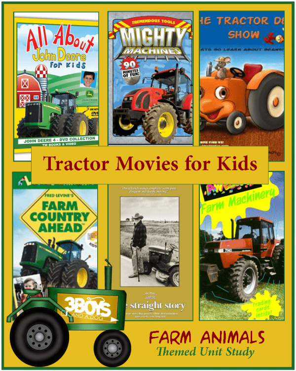 Tractor Movies for Kids part of the Farm Animals Unit Study