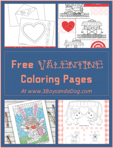 Coloring Pages for Valentine's Day