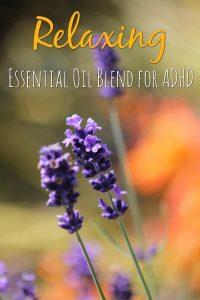 ADHD Essential Oil Blend Diffuser Recipe