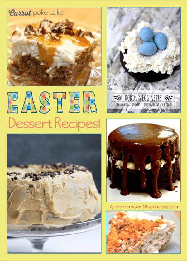 Delicious dessert recipes for easter