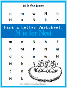 Find the Letter: N is for Nest