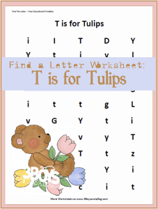 Find the Letter: T is for Tulips