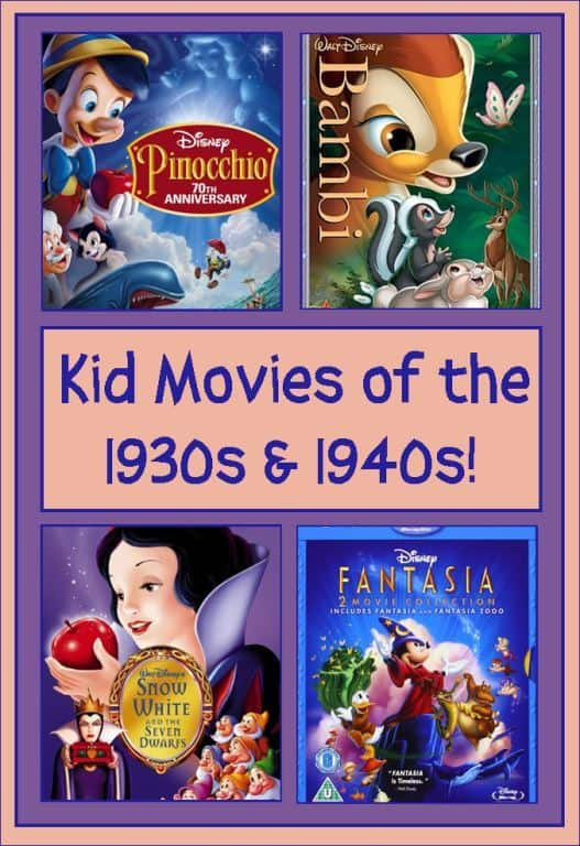 movies for kids of the 1930s and 1940s