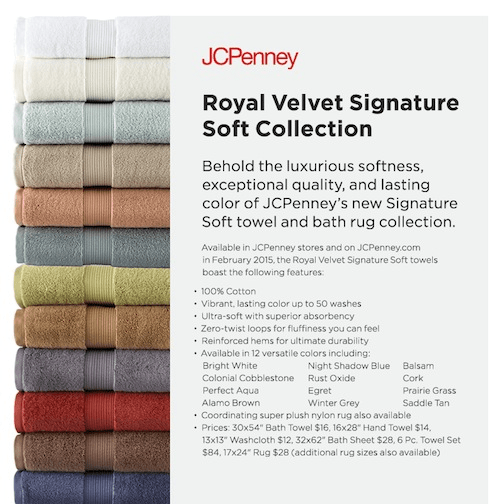 Royal Velvet Signature Soft Towels at JCPenney