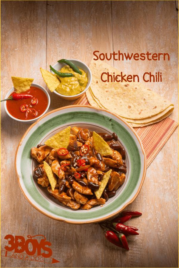 crockpot chicken chili with TexMex spice