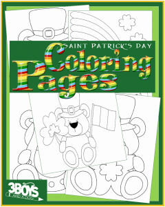 Saint Patricks Day Lucky Bear Coloring Book