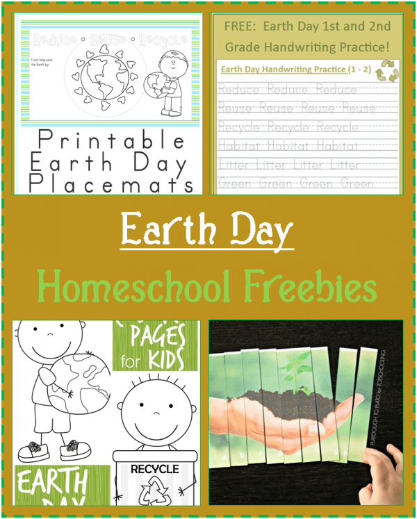 homeschooling freebies: earth day printables