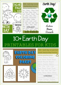 Over 10 free Earth Day Printables for Kids