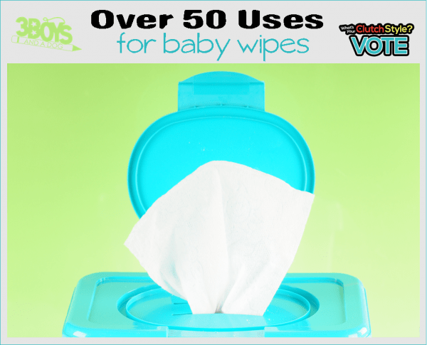 over 50 ways to use baby wipes that don't include a baby's bottom!