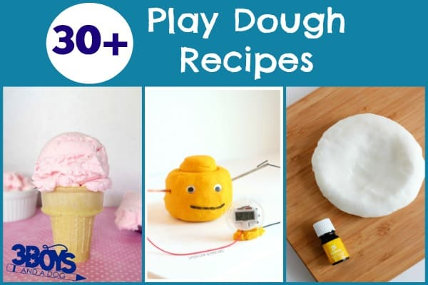 Over 30 Play Dough Recipes