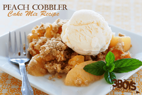 Cake Mix Hacks: Easy Peach Cobbler Recipe