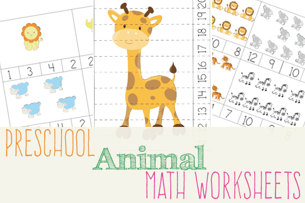 Animal Math Printables for Preschool