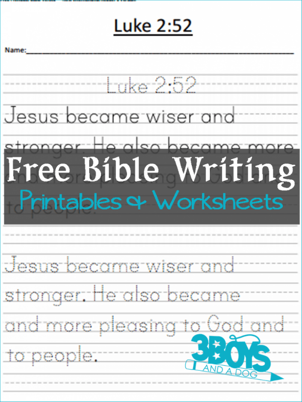 photograph relating to Free Printable Bible Verses Handwriting named Absolutely free Printable Bible Verses: Spherical Up 3 Boys and a Pet dog 3