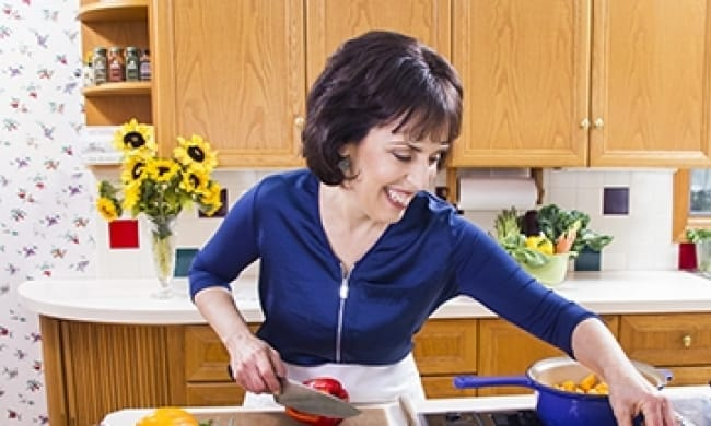 Sharon in the kitchen(sm)