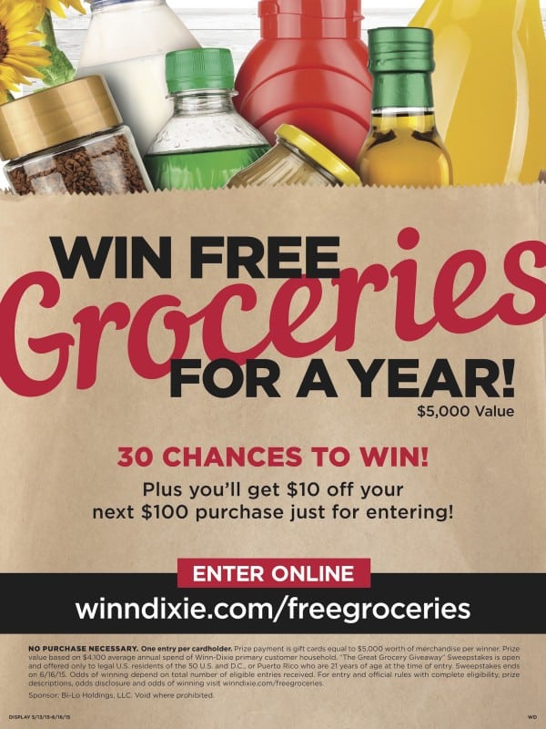You could win free groceries for a year!