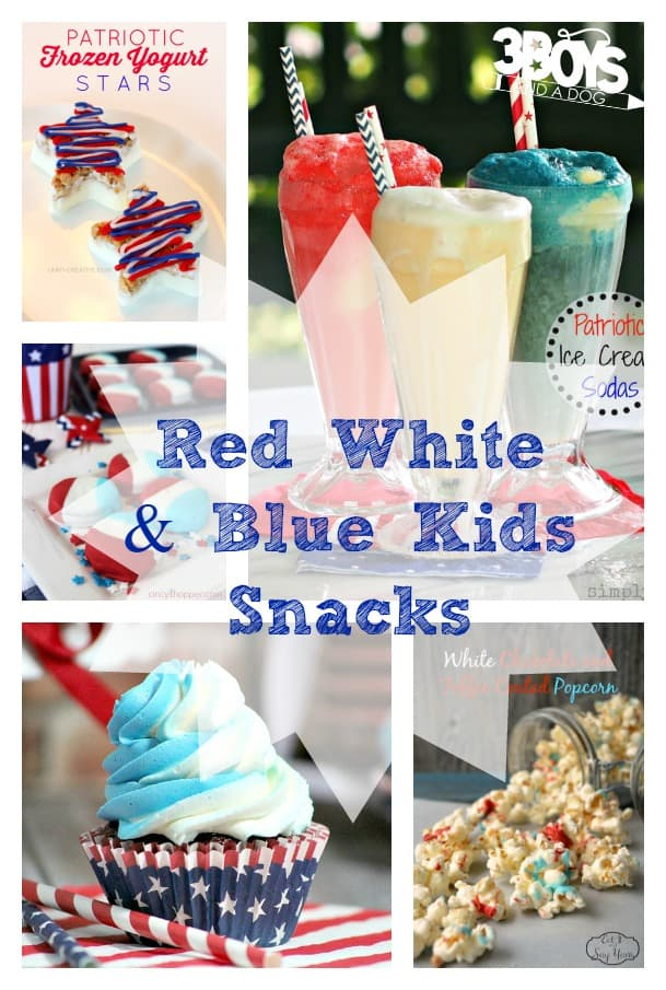 Red, White, and Blue Snacks for Kids