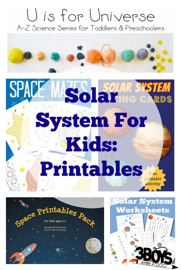 Solar system for kids printables and worksheets 3 boys for Solar for kids