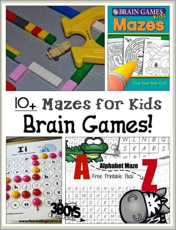 brain games for kids mazes 3 boys and a dog. Black Bedroom Furniture Sets. Home Design Ideas