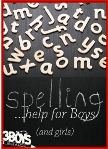 Spelling Practice Help for Boys!