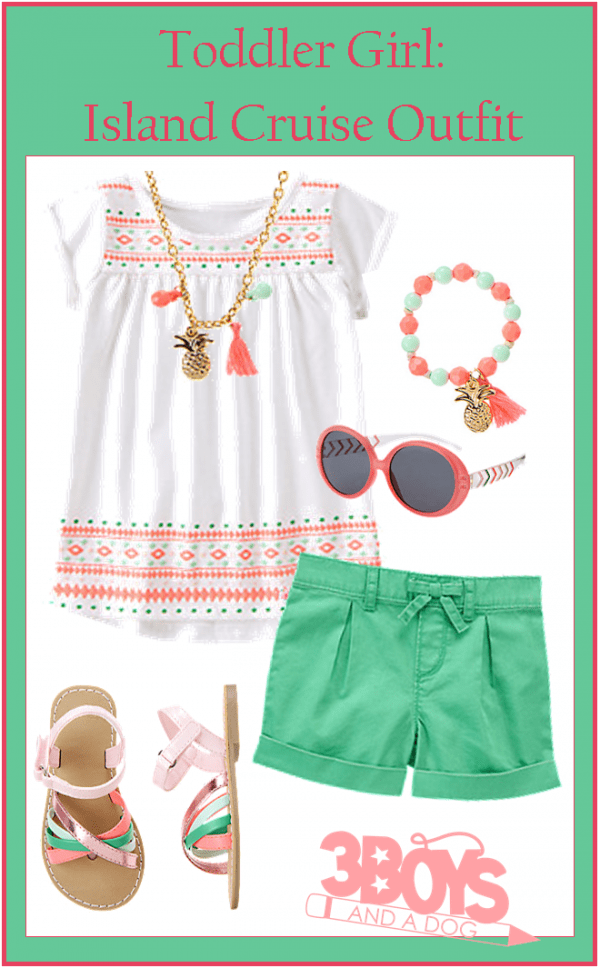 Adorable Toddler Girl Island Cruise Outfit