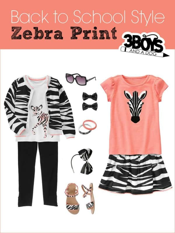 Zebra Print: Back to School Style for Girls
