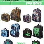 Back to School: Backpacks and Lunch Boxes for Boys