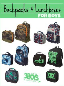 Backpacks and Lunchboxes for Boys