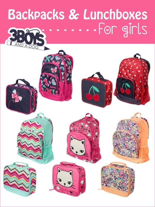 Backpacks and Lunchboxes for Girls – 3 Boys and a Dog