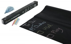 Sticker Chalkboard Paper & 5 Chalks $9.95