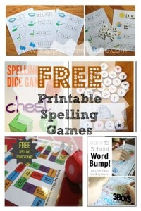 free printable spelling games for kids