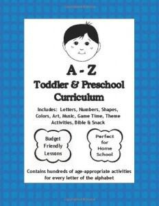 A to Z Toddler & Preschool Curriculum $5.00
