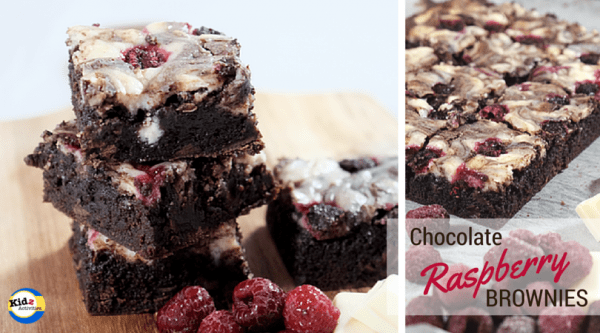 White Chocolate Raspberry Brownies