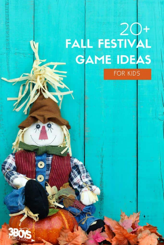 Fall Festival Game Ideas by 3 Boys and a Dog