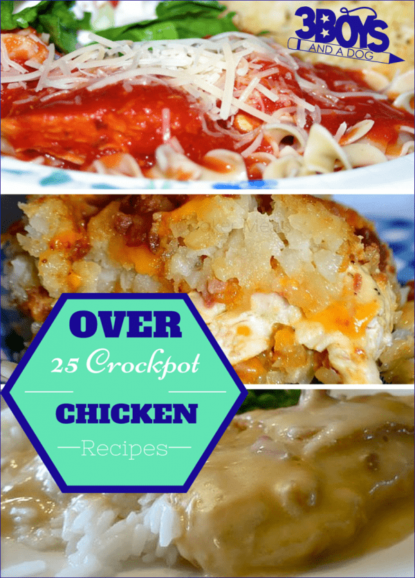Over 25 Delicious Chicken Recipes in the Crockpot