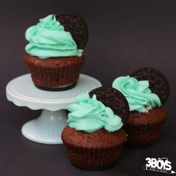 This Chocolate Mint Oreo Cupcake Recipe is sure to be a hit at your next dessert table. One of the best Oreo Cupcake Recipes I have ever tasted!