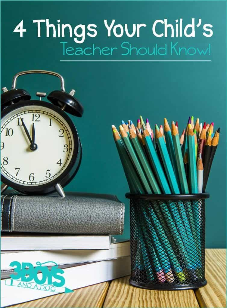 What you should tell your kids teacher