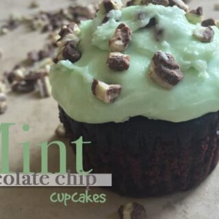 Easy Mint Chocolate Chip Cupcakes from Boxed Cake Mix!