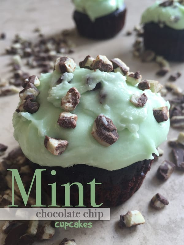 Mint Chocolate Chip Cupcakes - so good no one knows they come from a box!
