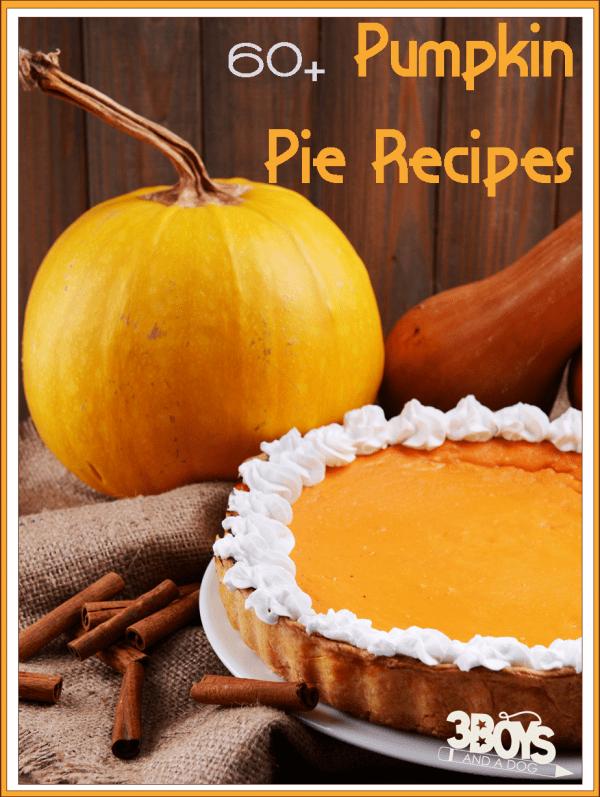 Over 60 Easy Pumpkin Pie Recipes – 3 Boys and a Dog