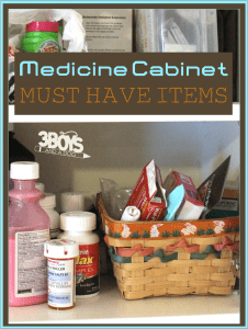 8 Must Have Items in Your Medicine Cabinet