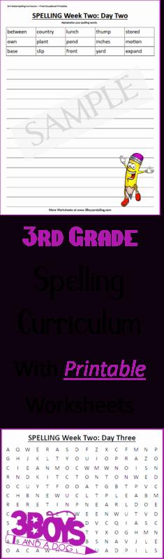 Third Grade Spelling Curriculum