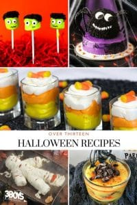 Over 13 Halloween Recipes including desserts and finger foods