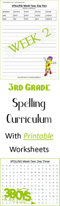Week Two_Printable Spelling Curriculum