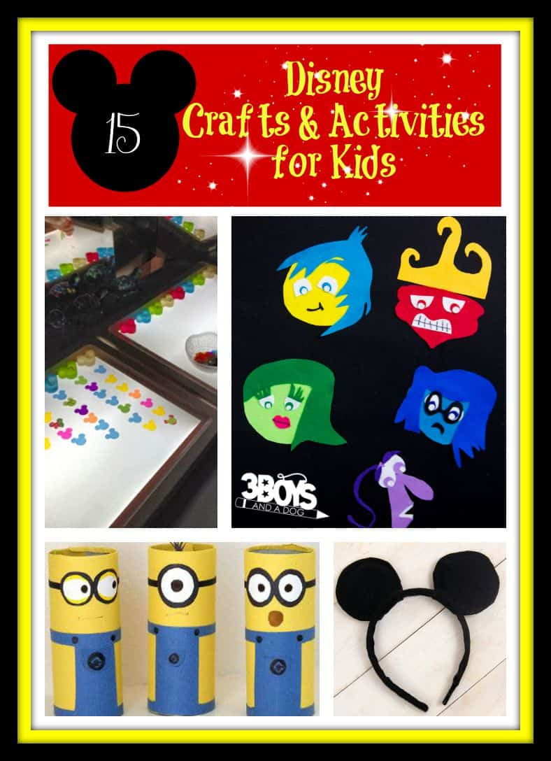 Disney Crafts and Activities for Kids