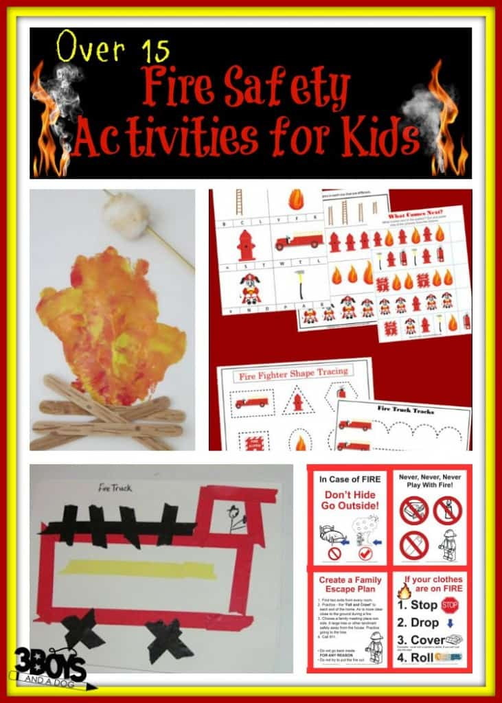 Fire Safety Activities For Kids 3 Boys And A Dog