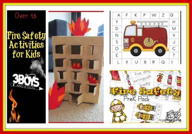 Fire Safety Activity Sheets For Kindergarten on Firefighter Worksheet For First Grade