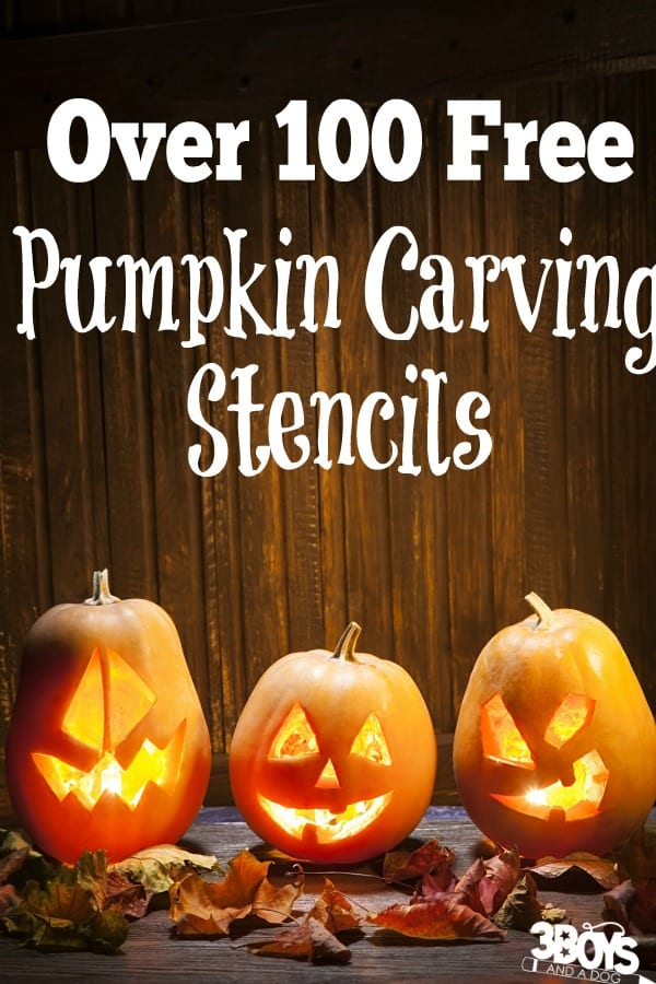 Over 100 free pumpkin carving stencils
