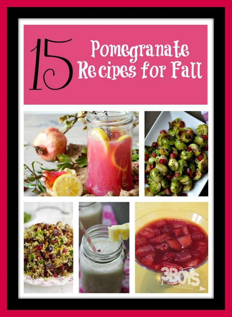 pomegranate recipes for fall