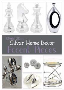 25 Fun Silver Home Decor Accent Pieces